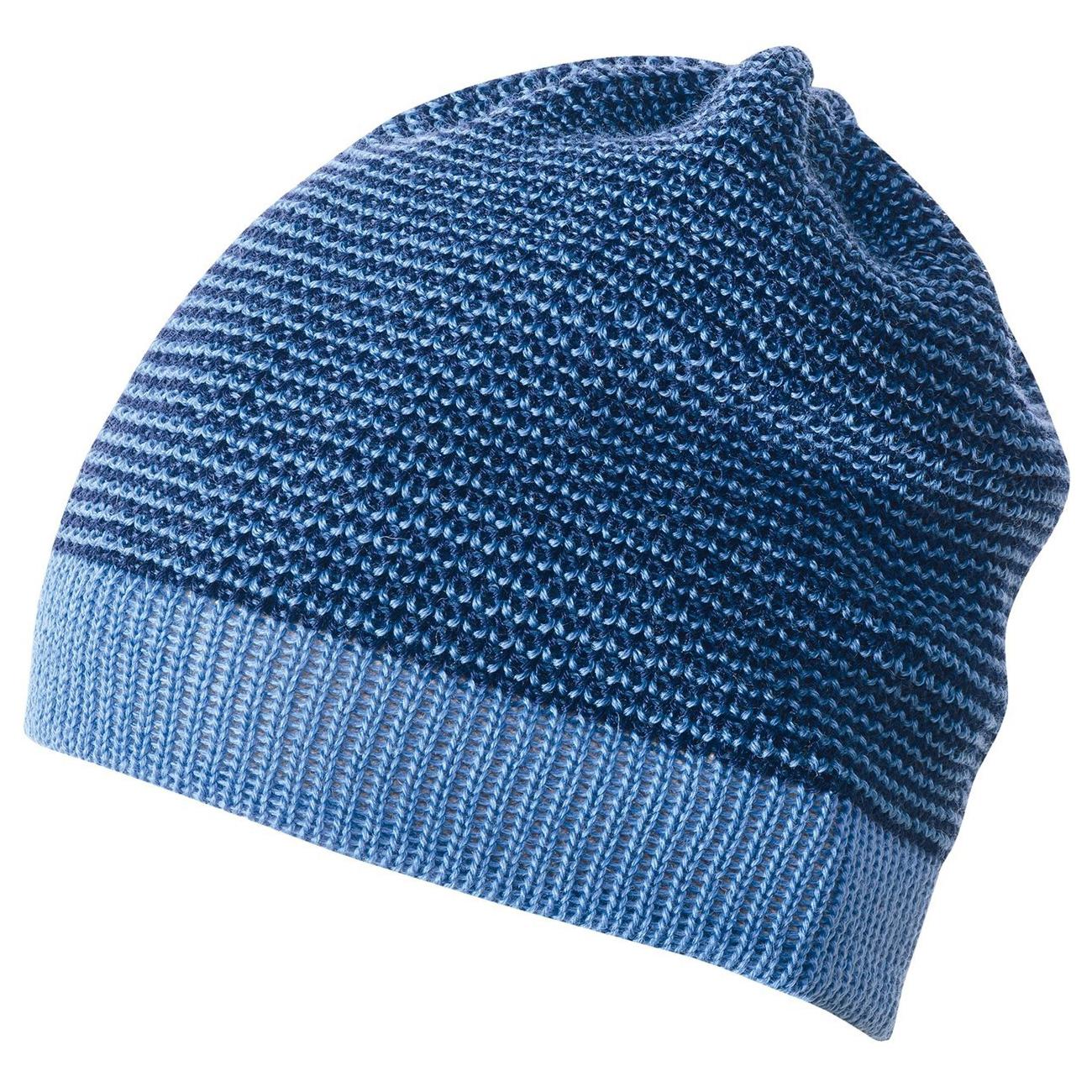 d71d4a6f0b1 DISANA Čepice merino vlna modrá melange