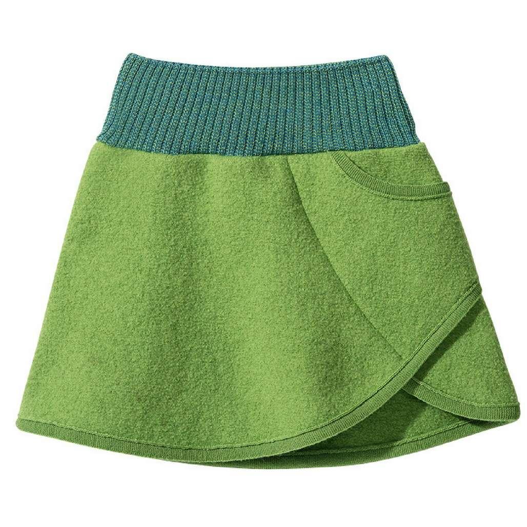 630bc465ead DISANA Flaušová sukně merino vlna zelená