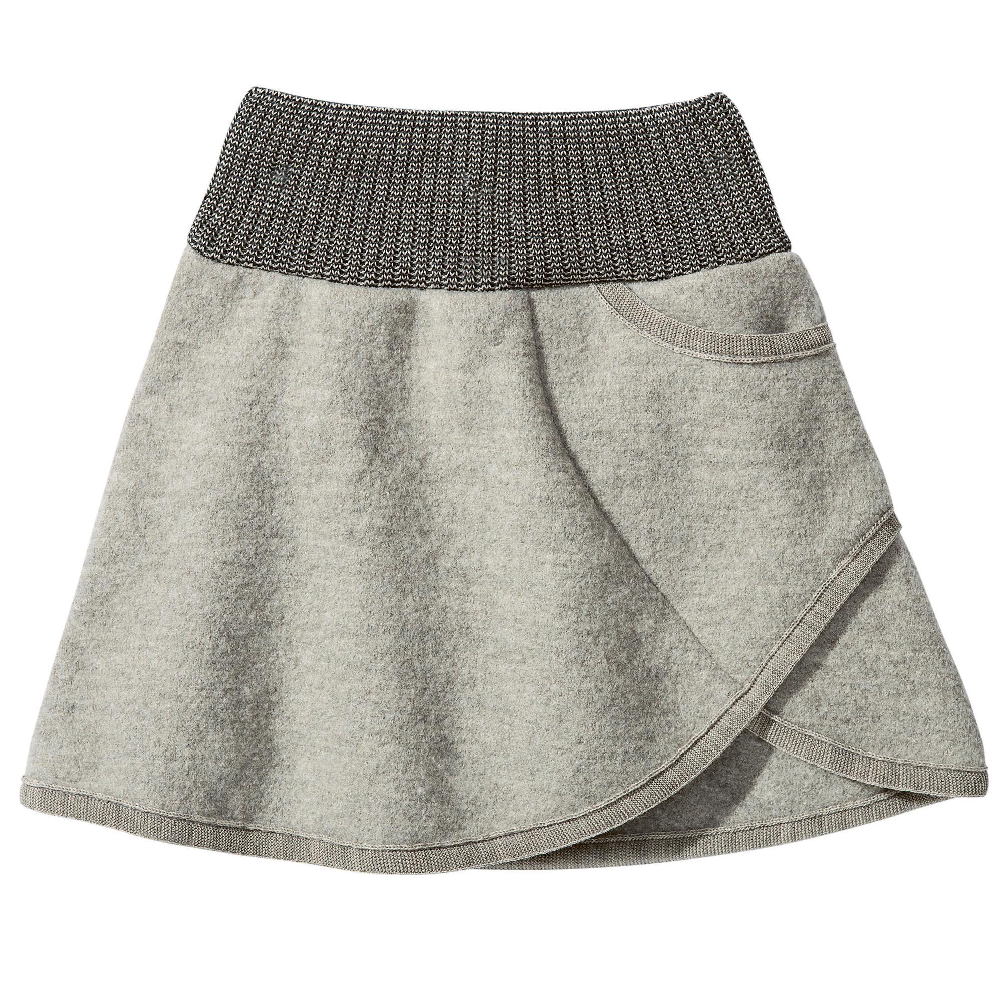 42dac85a38b DISANA Flaušová sukně merino vlna šedá