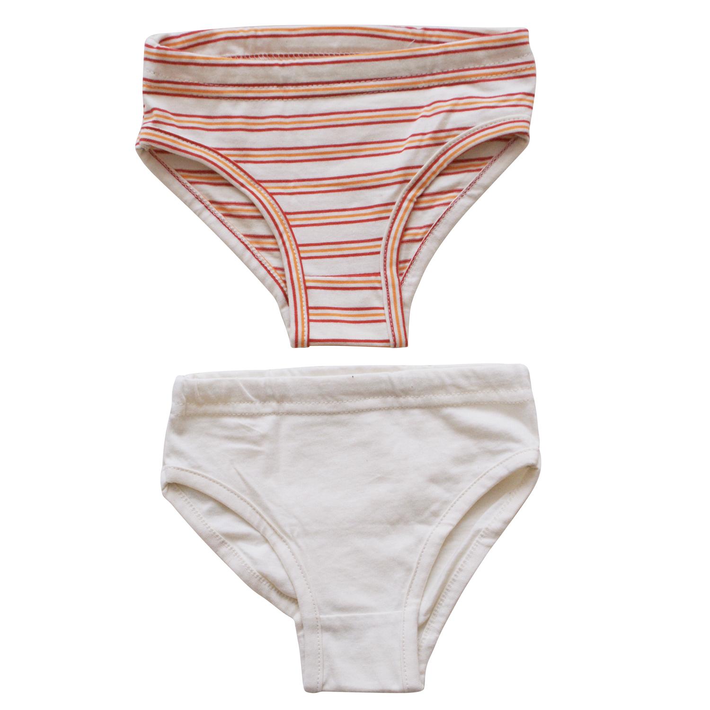 0bd51620788 BETTY MODE Kalhotky červeno-oranžové proužky biobavlna