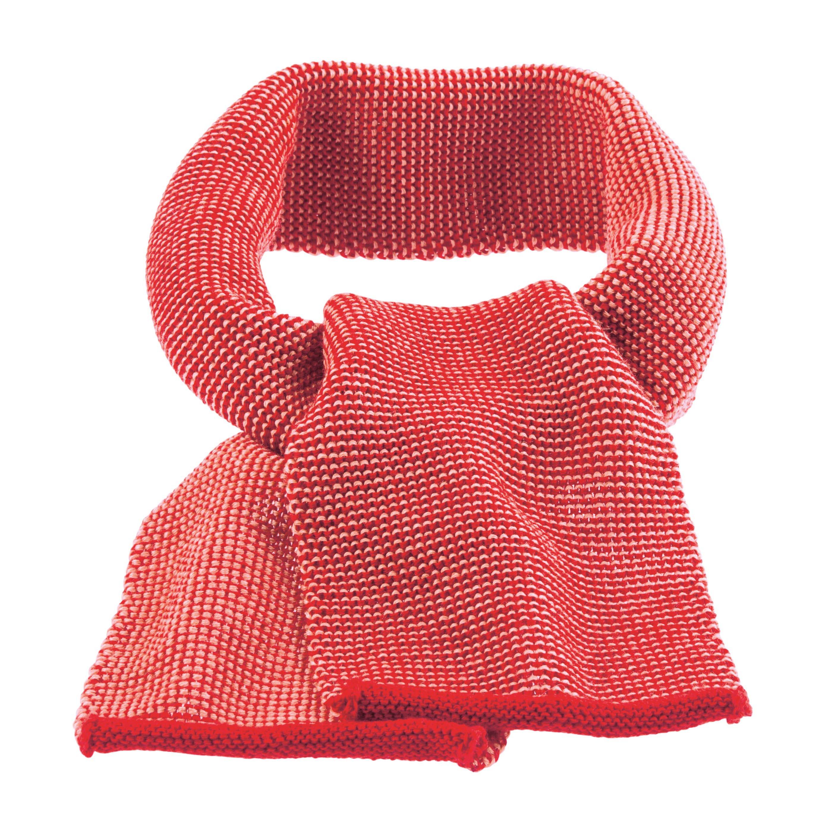 b66b67ea016 DISANA Šála merino vlna červená růžová melange