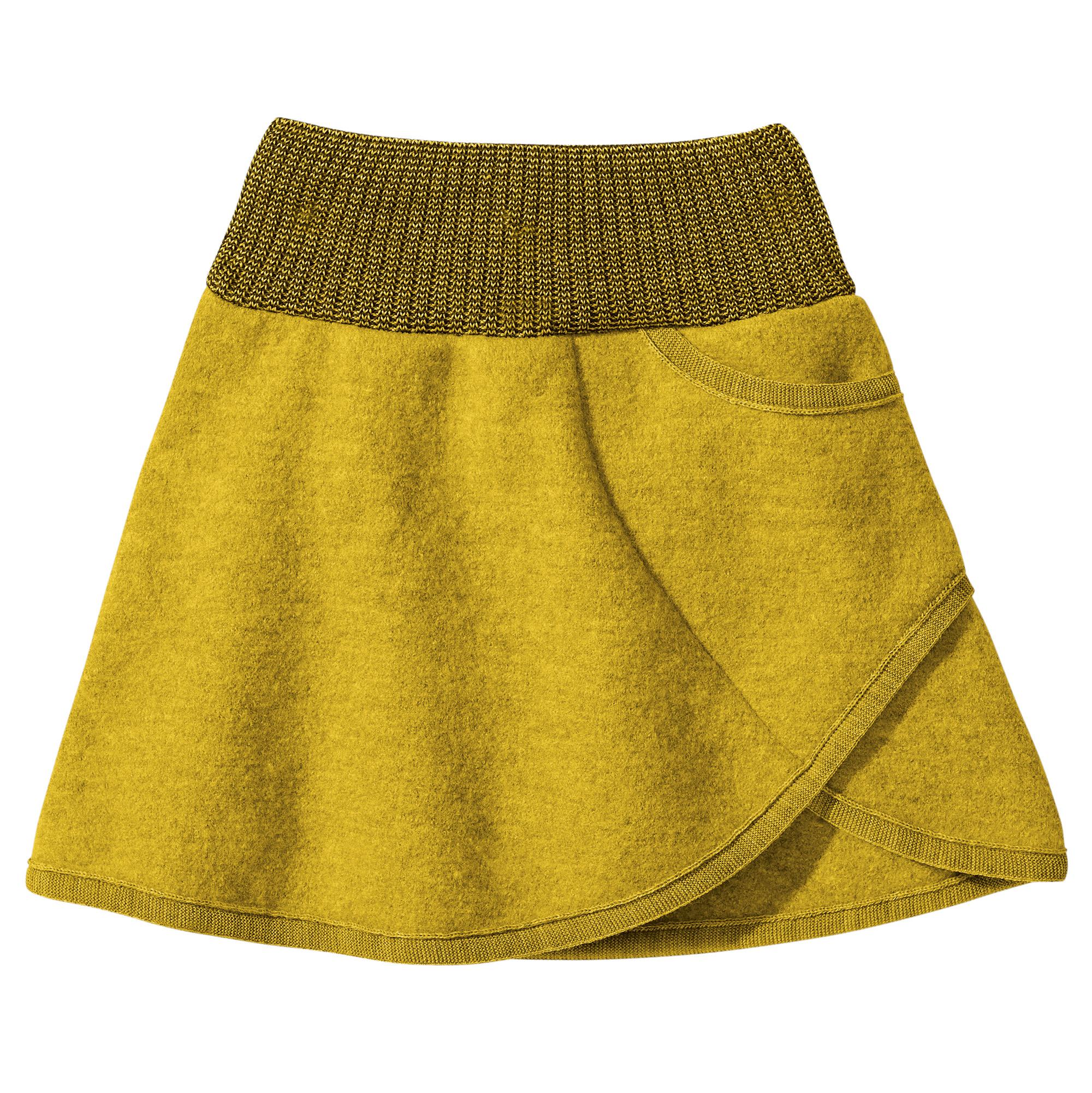 845e7ee6572 DISANA Flaušová sukně merino vlna curry