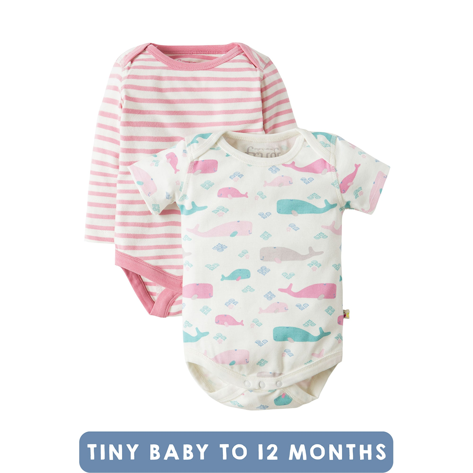 FRUGI Body biobavlna Little Whale, 2 ks