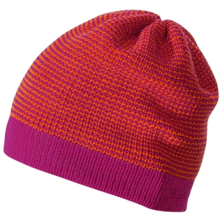 DISANA Čepice merino vlna berry-orange