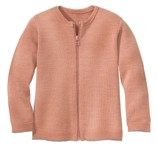 DISANA Cardigan merino vlna rose